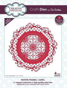 Sue Wilson Designs - Die - Festive Frames Collection Carol