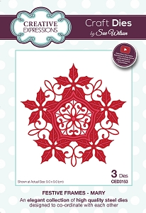 Sue Wilson Designs - Die - Festive Frames Collection Mary