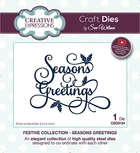 Sue Wilson Designs - Die - Festive Collection Season's Greetings
