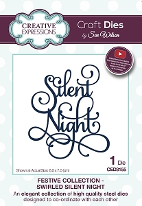 Sue Wilson Designs - Die - Festive Collection Swirled Silent Night
