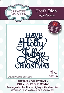 Sue Wilson Designs - Die - Festive Collection Holly Jolly Christmas