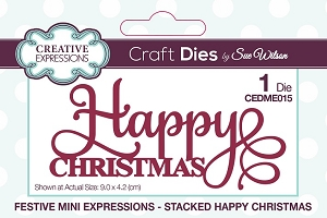 Sue Wilson Designs - Mini Expressions - Stacked Happy Christmas