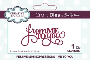 Sue Wilson Designs - Mini Expressions - Me To You