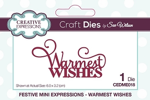 Sue Wilson Designs - Mini Expressions - Warmest Wishes