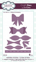 Sue Wilson Designs - Die - Finishing Touches - Classic 3D Bow (Set of 6)