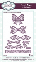 Sue Wilson Designs - Die - Finishing Touches - Filigree Bow (Set of 6)