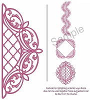 Sue Wilson Designs - Die - Configurations Lattice Arched Adornment