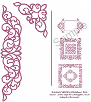 Sue Wilson Designs - Die - Configurations Elegant Lace Edger
