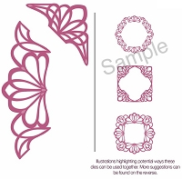 Sue Wilson Designs - Die - Configurations Dainty Lace Edger