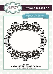 Sue Wilson Designs - Cling Mounted Stamp - Caroline's Elegant Damask