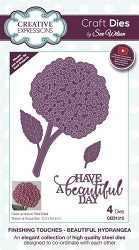 Sue Wilson Designs - Die - Finishing Touches Collection - Beautiful Hydrangea