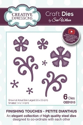 Sue Wilson Designs - Die - Finishing Touches Collection - Petite Dianthus