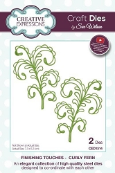 Sue Wilson Designs - Die - Finishing Touches Collection - Curly Fern