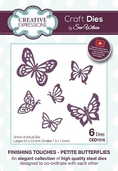 Sue Wilson Designs - Die - Finishing Touches Collection - Petite Butterflies