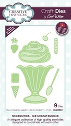 Sue Wilson Designs - Die - Necessities Collection - Ice Cream Sundae