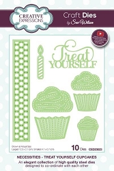 Sue Wilson Designs - Die - Necessities Collection - Treat Yourself Cupcake