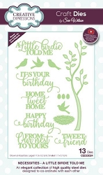 Sue Wilson Designs - Die - Necessities Collection - A Little Birdie Told Me