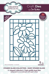 Sue Wilson Designs - Die - Stained Glass Collection - Daisy