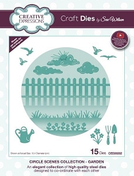 Sue Wilson Designs - Die - Circle Scenes Collection - Garden