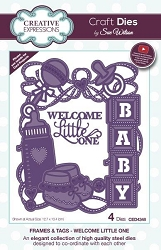 Sue Wilson Designs - Die - Frames & Tags - Welcome Little One