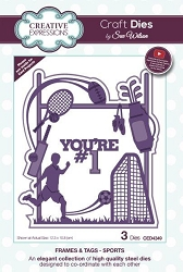 Sue Wilson Designs - Die - Frames & Tags - Sports
