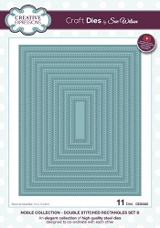 Sue Wilson Designs - Die - Noble Collection - Double Stitched Rectangles Set B
