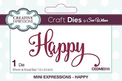 Sue Wilson Designs - Die - Mini Expressions - Happy
