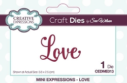 Sue Wilson Designs - Die - Mini Expressions - Love