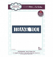 Sue Wilson Designs - Die - Expressions - Bold Thank You