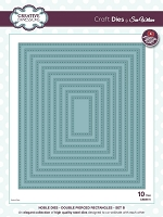 Sue Wilson Designs - Die - Noble Collection - Double Pierced Rectangles Set B