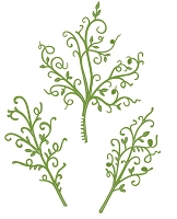 Sue Wilson Designs - Die - Finishing Touches Collection - Swirly Leaf Trio