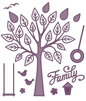 Sue Wilson Designs - Die - Finishing Touches Collection - Family Tree