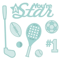 Sue Wilson Designs - Die - Shadow Box Collection - Accessory You're A Star