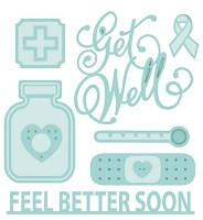 Sue Wilson Designs - Die - Shadow Box Collection - Accessory Feel Better Soon