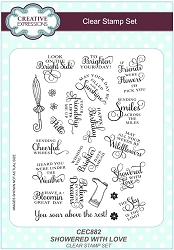 Sue Wilson Designs - Clear Stamp Set - Showered With Love