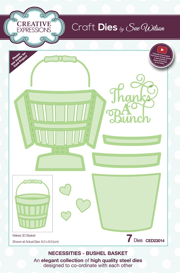 Sue Wilson Designs - Die - Necessities Collection - Bushel Basket