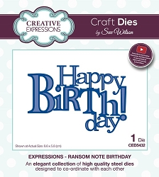 Sue Wilson Designs - Die - Expressions Collection - Ransom Note Birthday