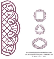 Sue Wilson Designs - Die - Configurations Scalloped Trellis Adornment