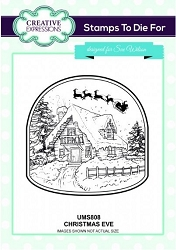 Sue Wilson Designs - Cling Mounted Stamp - Christmas Eve