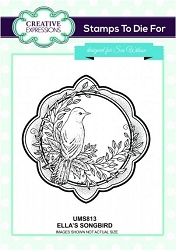 Sue Wilson Designs - Cling Mounted Stamp - Ella's Songbird