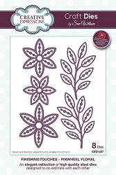 Sue Wilson Designs - Die - Finishing Touches Collection - Pinwheel Floral