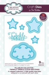 Sue Wilson Designs - Die - Fillables Collection - Twinkle Twinkle Cloud and Stars