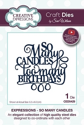 Sue Wilson Designs - Die - Expressions Collection - So Many Candles