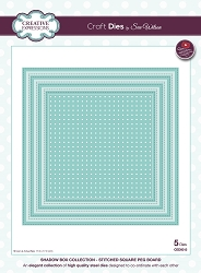 Sue Wilson Designs - Die - Shadow Box Collection - Stitched Square Pegboard