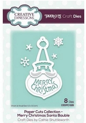 Creative Expressions - Die - Paper Cuts Collection Merry Christmas Santa Bauble