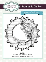 Sue Wilson Designs - Cling Mounted Stamp - Eliza's Dragonfly Daisy