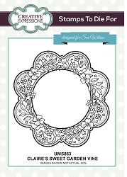 Sue Wilson Designs - Cling Mounted Stamp - Claire's Sweet Garden Vine