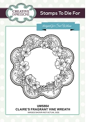Sue Wilson Designs - Cling Mounted Stamp - Claire's Fragrant Vine Wreath