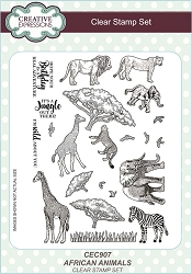 Sue Wilson Designs - Clear Stamps - African Animals