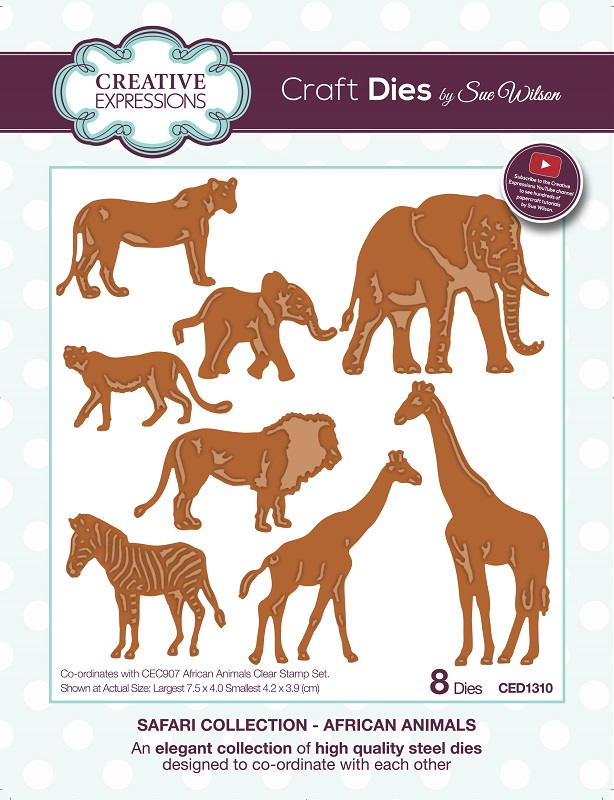 Sue Wilson Cutting Dies - Safari Collection
